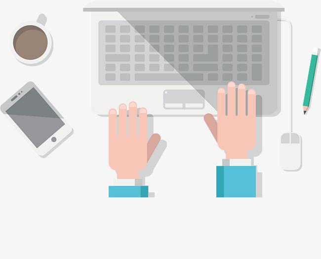 les mains sur le clavier le vecteur de png typage taper