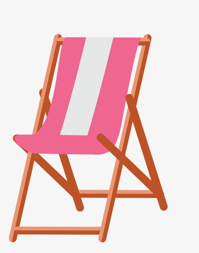 Holiday Vector Pink Beach Chairs Png And