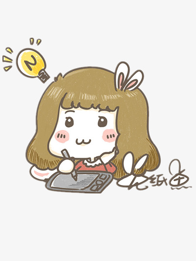 homework girl cartoon lovely kawaii png image and clipart for