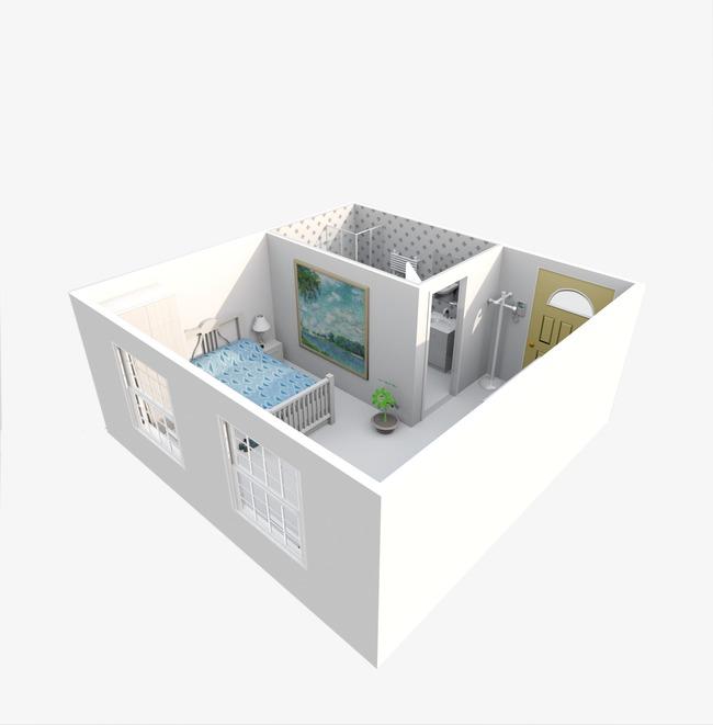 Modèle De Maison à L Intérieur De La Chambre Stéréo Construction ...