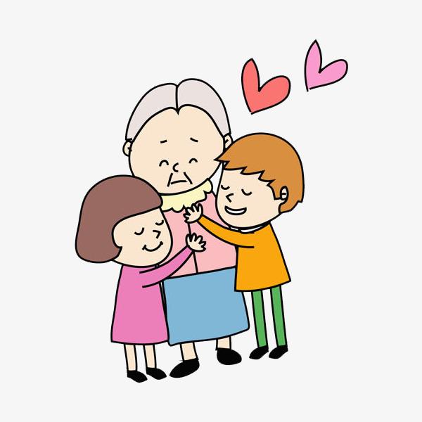 embrasser le vieil homme dessin peint  u00e0 la main l amour