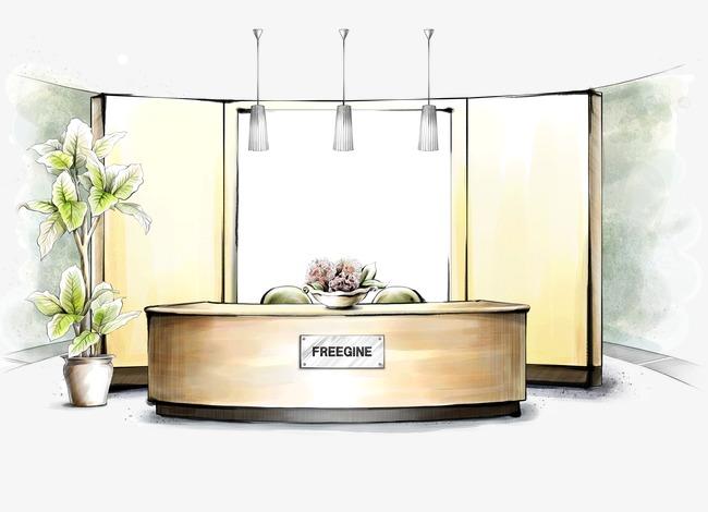 Mobilier de bureau moderne de l encre peint à la main de l encre
