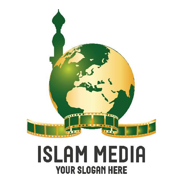 islamic concept abstract vector logo design template paper creative