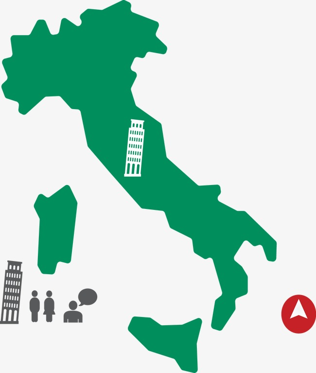 Italy Transparent With Download Png Background Vector Travel For Map Free And Holiday Tourism Flat