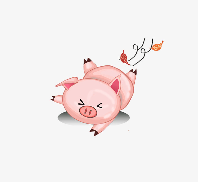 Jepang Dan Korea Selatan Comel Babi Kecil Haiwan Animasi Kartun
