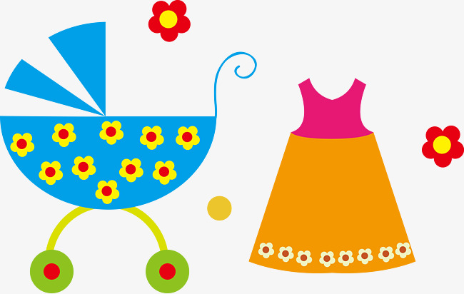 Productos Infantiles Cochecito Falda Flores Png Y Vector Para