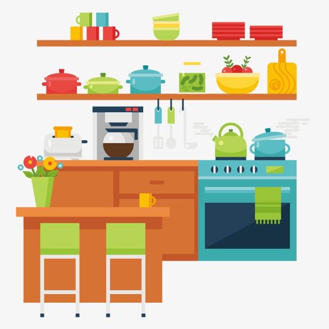 Conjunto De Iconos De Diseño De Accesorios De Cocina Suministros De ...