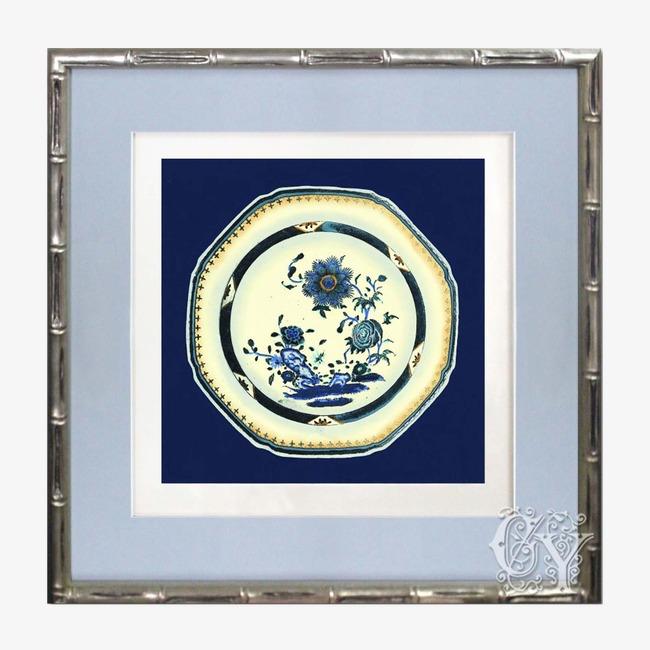 Lotus Lotus Bleu Et Blanc De Plaques De Métal Primaire