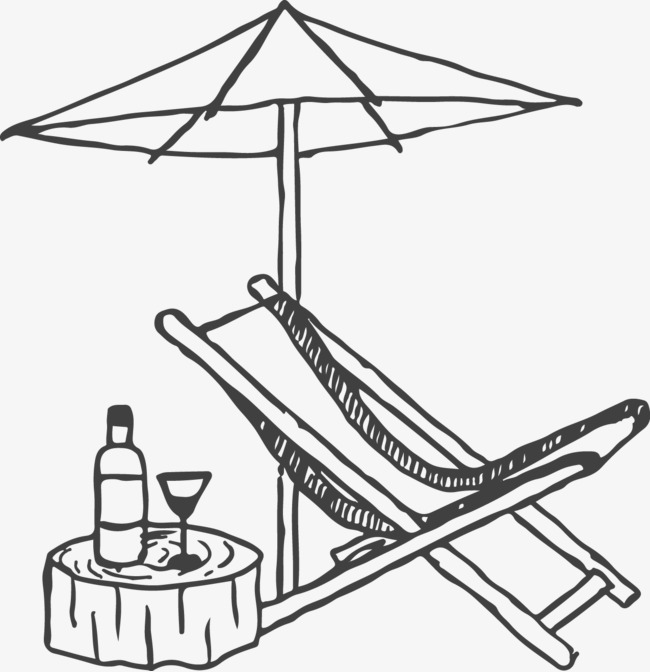 Lounge Chair Deck Chair Sun Umbrella Hand Png Image And Clipart