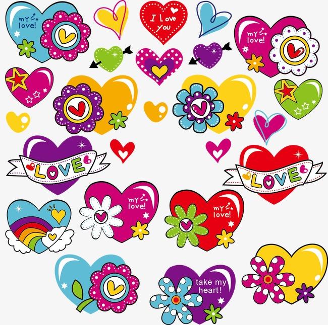 Amor Dibujos Animados De Amor Color Dibujos Archivo Png Y Psd Para