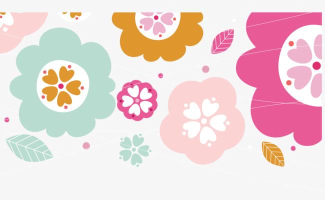Cute Bunga Hiasan Corak Pera Png Dan Vr