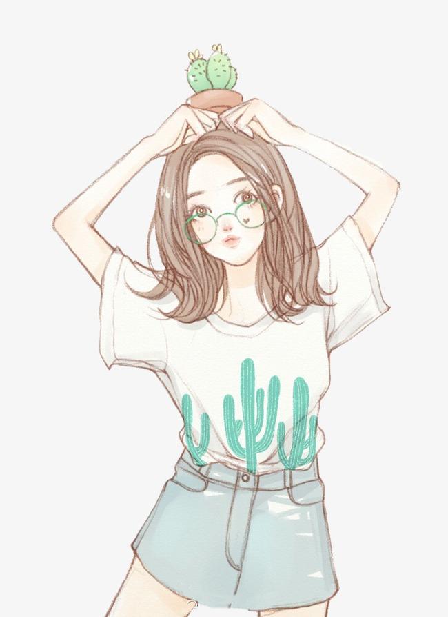 無料ダウンロードのためのかわいい女の子 漫画 手描き イラスト Png画像