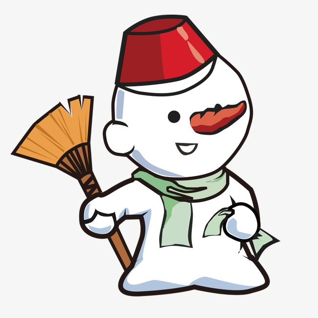 Lovely Snowman Snowman Clipart Snowman Broom Image And