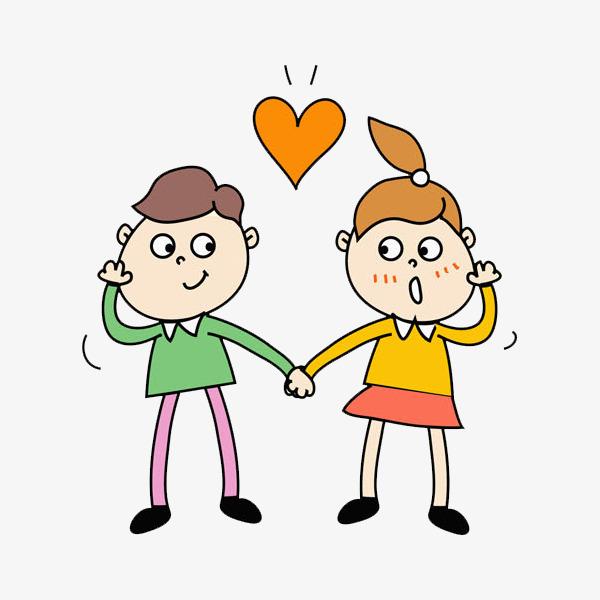 Pareja De Enamorados Amor Los Amantes Dibujo A Mano De