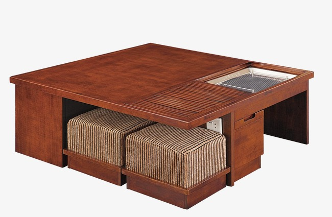 Mahogany Tea Table Furniture Multifunction Square Table Png Image