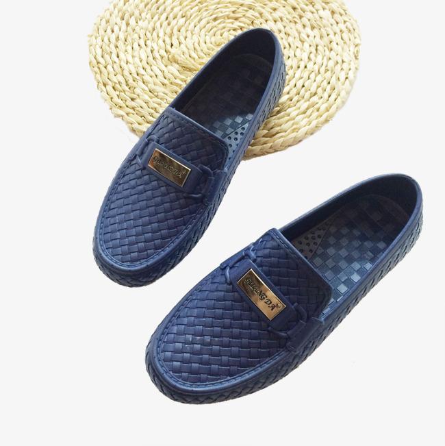 Tejido Lluvia Hombres Botas Los Casuales De Lazy Zapatos wqOH4pE