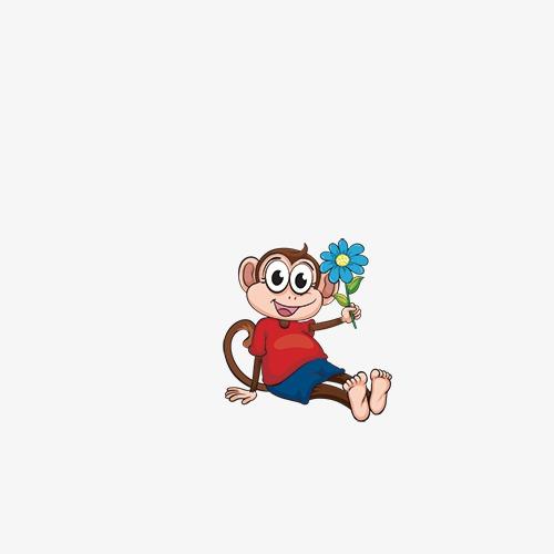 La scimmia la scimmia la scimmia di elementi i cartoni animati