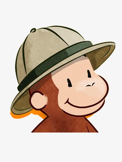 قرد يرتدي قبعة جميل القرد الصغير لون PNG صورة للتحميل مجانا