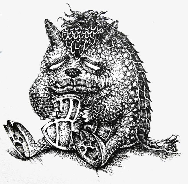 course de monstre en acier monstre un stylo croquis image