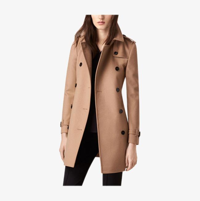 Abrigo lana marron