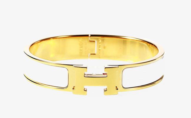 De l or de l émail blanc étroite s or H fermoir de bracelet Gratuit PNG et  PSD e85e9362711