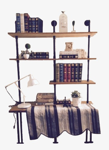 Neat Books Bookshelf Cartoon PNG Image And Clipart