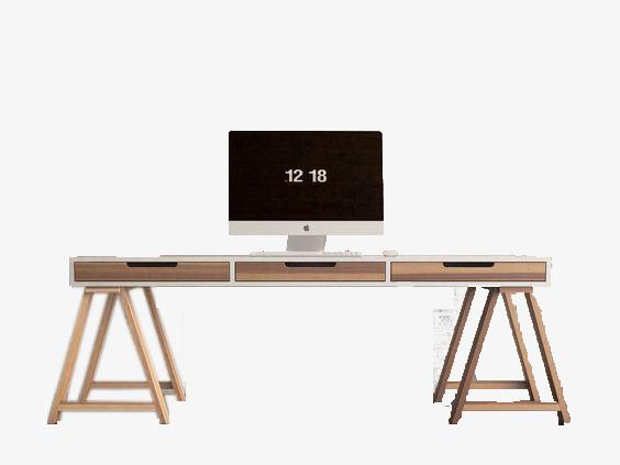 Le bureau nordique minimaliste en bois ordinateur de bureau