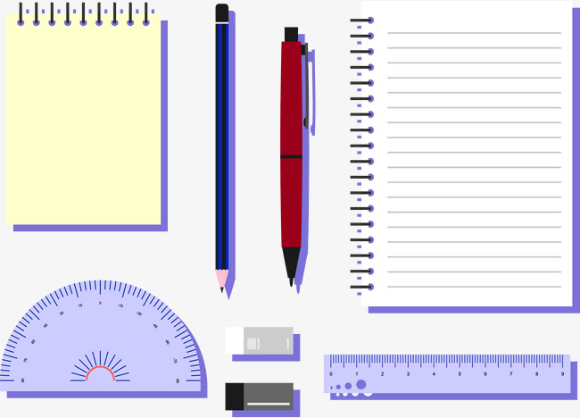 Lined memo notepad with pencil stock photo image of sheet.