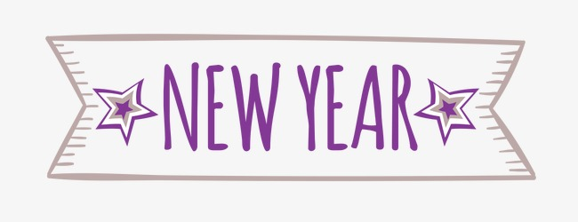nweyear new year wordart blue png image and clipart