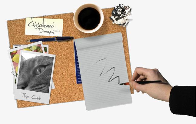 Fournitures de bureau blanc noir écrire image png pour le
