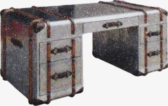 Le vieux bureau bureau rétro gris image png pour le téléchargement libre