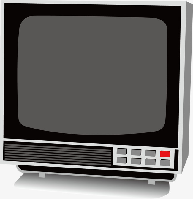 Old Vintage Black And White Tv Appliance Background Material