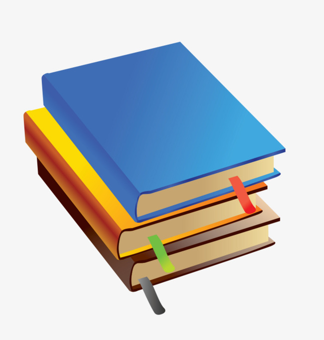 Overlapping Colored Books Color Book Books Png And Vector For