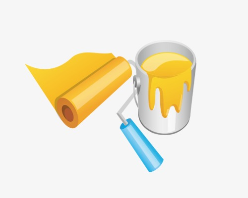 pot de peinture pot de peinture blanche rouleau dessin image png pour le t l chargement libre. Black Bedroom Furniture Sets. Home Design Ideas
