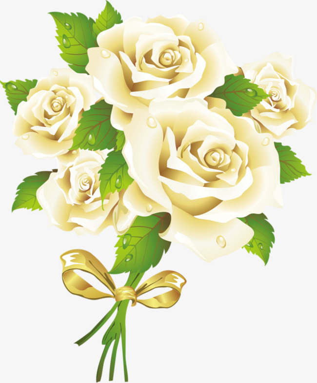 باللون الأصفر الشاحب الزهور رسمت باليد صورة أصفر شاحب الزهور Png