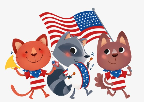 Image result for usa cat clipart