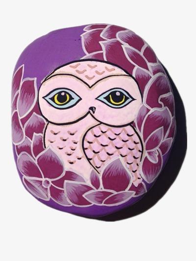 Peinture Sur Pierre pierre de peinture peinture pierre hibou image png pour le