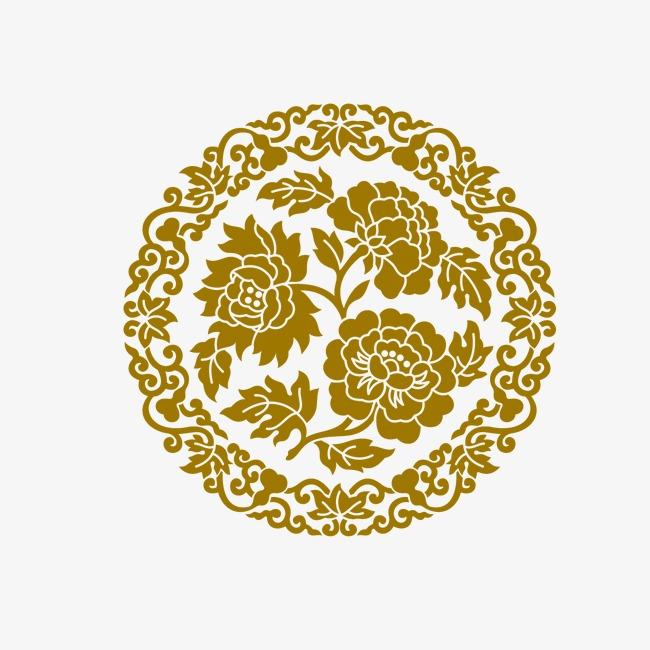 無料ダウンロードのための紙切り 紙切り 牡丹 シュロ黄色 Png画像