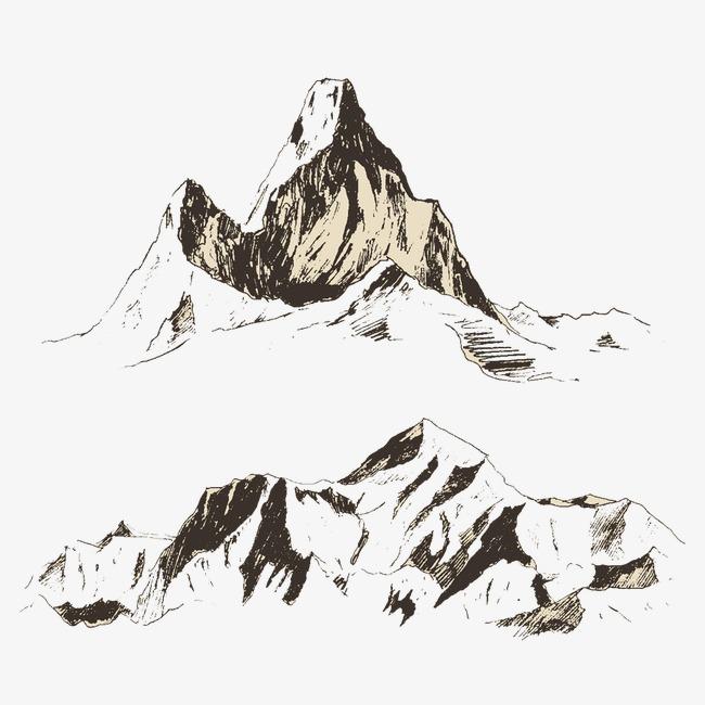 Puncak Lukisan Yang Indah Seni Lukisan Gunung Ukiran Dari Sketsa