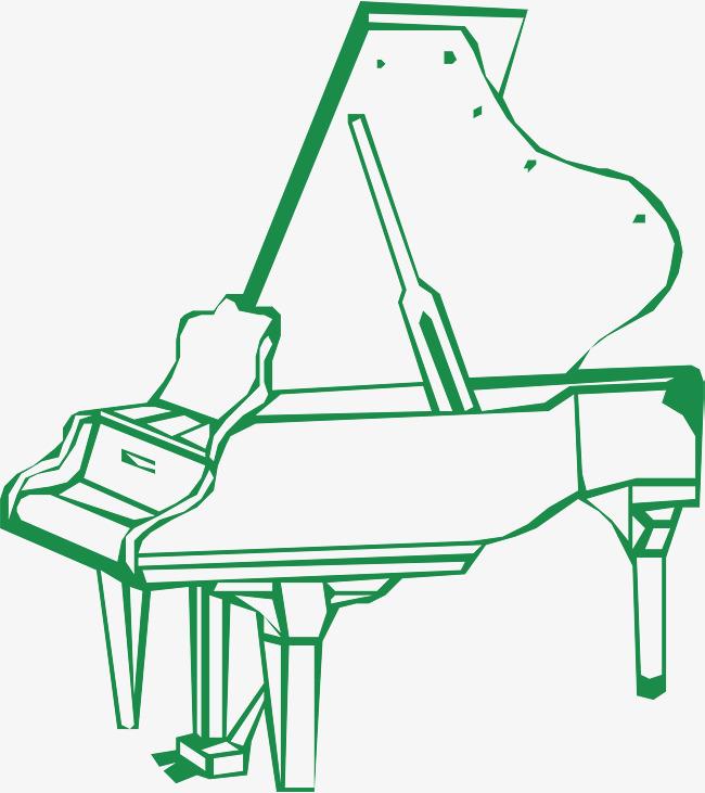 Piano De Symboles La Carte Visite Vecteurs D