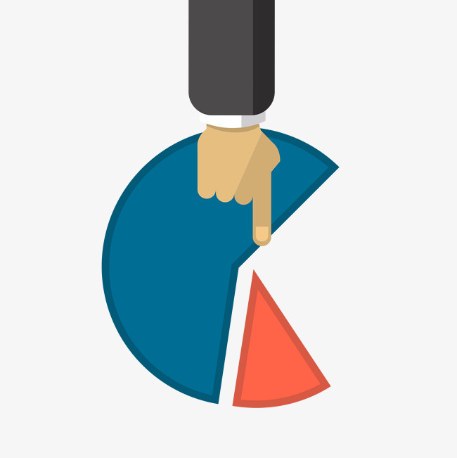 Pie Charts Illustration Finger Pie Chart Vector Png And Vector