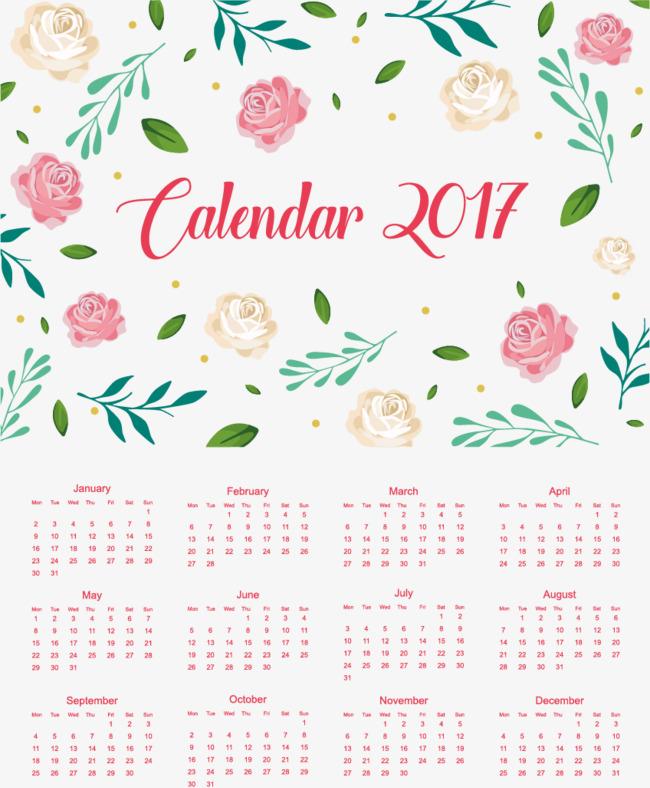 pink flowers romantic new year calendar new vector calendar vector pink png and
