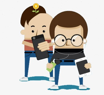 Image result for play with phone cartoon