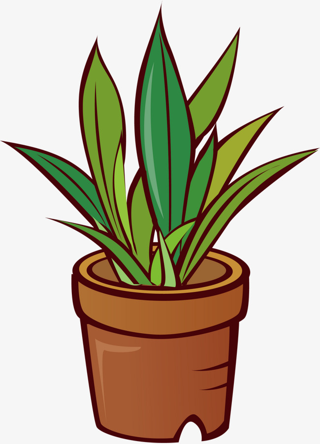 Pots Png Vector Material, Flower Pot, Cartoon, Plant PNG ...