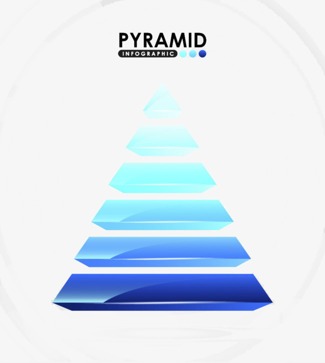 ピラミッド状pptの元素のベクトルの素材 ピラミッド形 ベクトル図 装飾の