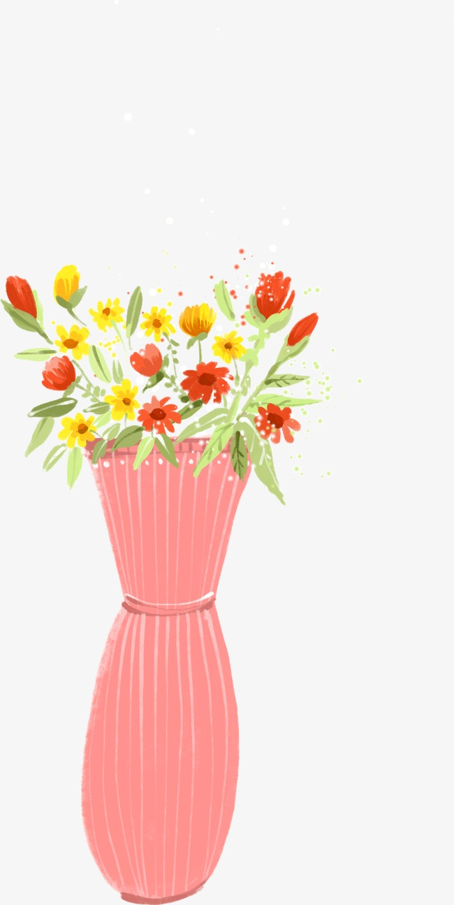 Pretty Painted Flower Pots Flower Clipart Pretty Painted Png