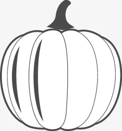 Pumpkinblack And White Flat Pumpkin Vector Black Vector Pumpkin