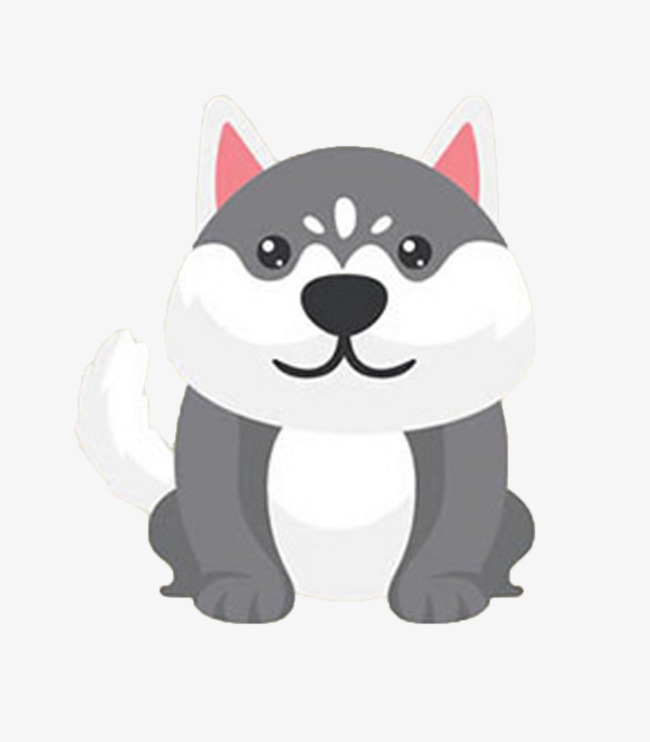 Puppy Fat Puppy Clipart Pink Ears Puppy White Tail Dog Png Image