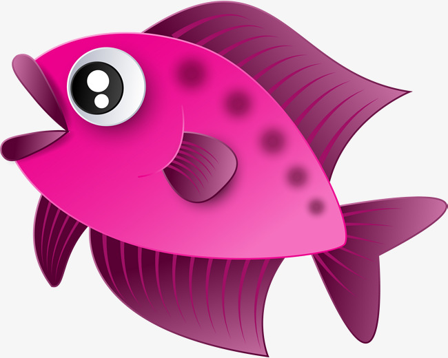 Purple Cartoon Fish, Cartoon Clipart, Fish Clipart, Violet ...