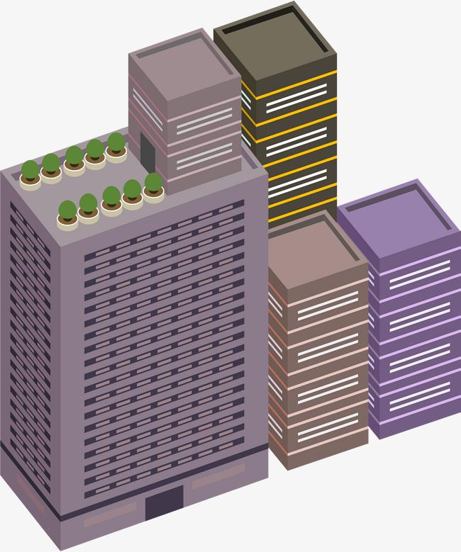 L Immeuble Simple Violet Violet De Batiment Dessin De Construction